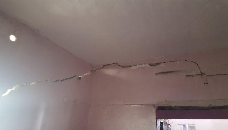 تشققات - الأضرار التي لحقت منازل وادي حلوة في سلوان
