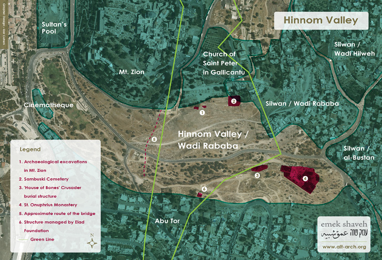 hinnom valley map eng