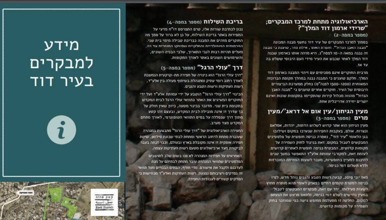עלון מידע למבקר בעיר דוד